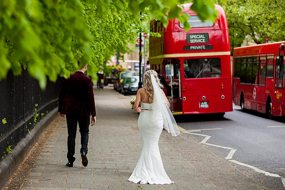 Route master Bus London wedding