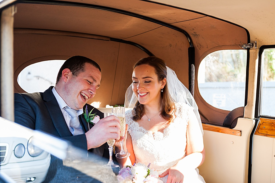 Galway Wedding Photographer, Vintage wedding car Ireland